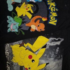 2 boys Pokémon tshirts